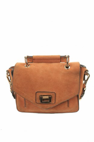 Чанта Zara, Цвят Кафяв, Естествен велур, Цена 42,00лв.