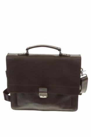 Чанта за документи Burkely, Цвят Кафяв, Естествена кожа, Цена 111,72лв.