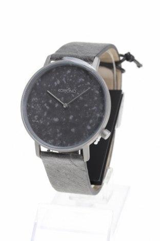 Часовник Komono, Цвят Сив, Естествена кожа, метал, Цена 64,22лв.