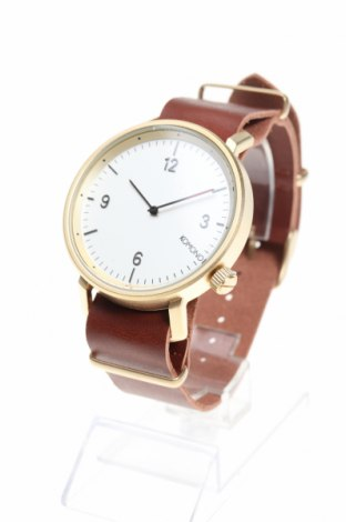 Часовник Komono, Цвят Кафяв, Метал, естествена кожа, Цена 49,17лв.