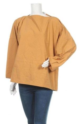 Дамска блуза, Размер L, Цвят Жълт, Памук, Цена 8,26лв.
