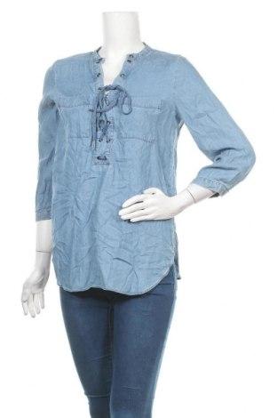 Γυναικεία μπλούζα A.N.A., Μέγεθος S, Χρώμα Μπλέ, Lyocell, Τιμή 10,52€
