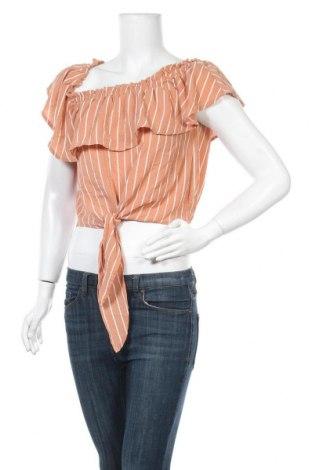 Дамска блуза Active Basic USA, Размер M, Цвят Бежов, 96% полиестер, 4% еластан, Цена 11,34лв.
