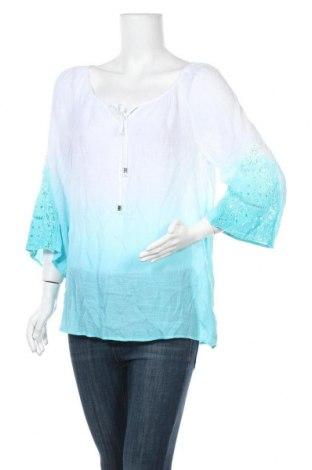 Дамска блуза Agb, Размер L, Цвят Бял, 68% вискоза, 32% полиестер, Цена 10,40лв.