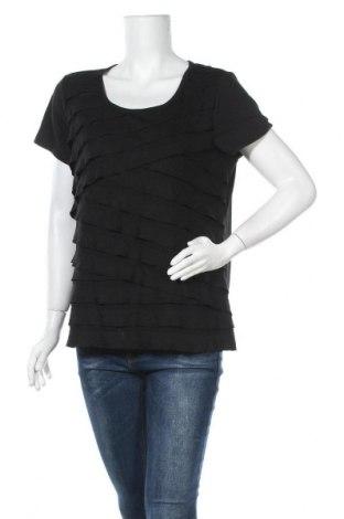 Дамска блуза Agb, Размер XL, Цвят Черен, 74% полиестер, 23% вискоза, 3% еластан, Цена 6,72лв.
