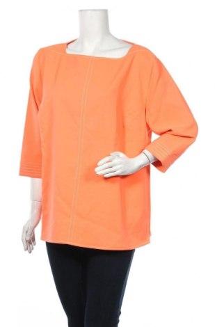 Дамска блуза Alba Moda, Размер XXL, Цвят Оранжев, 85% полиестер, 15% еластан, Цена 4,46лв.