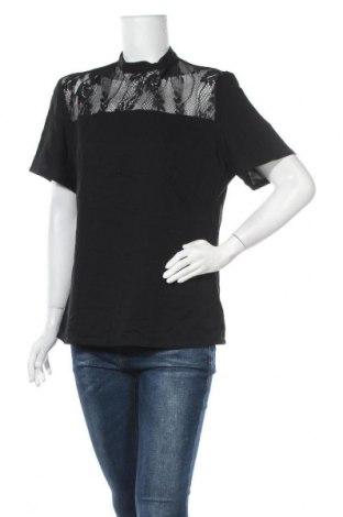 Дамска блуза Atmos & Here, Размер XL, Цвят Черен, 97% полиестер, 3% еластан, Цена 29,40лв.