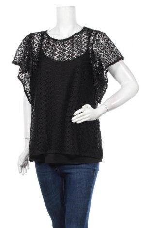 Γυναικεία μπλούζα City Chic, Μέγεθος L, Χρώμα Μαύρο, 95% πολυεστέρας, 5% ελαστάνη, Τιμή 18,19€