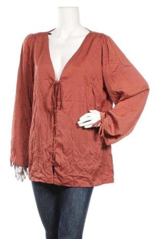 Дамска блуза City Chic, Размер XXL, Цвят Кафяв, 100% полиестер, Цена 6,98лв.