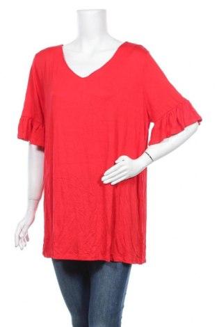 Γυναικεία μπλούζα Clothing & Co, Μέγεθος XXL, Χρώμα Κόκκινο, 95% βισκόζη, 5% ελαστάνη, Τιμή 15,59€