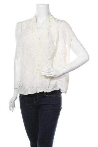 Дамска блуза David Lawrence, Размер XL, Цвят Екрю, Коприна, Цена 74,66лв.