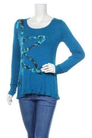 Дамска блуза Gaiam, Размер L, Цвят Син, 95% вискоза, 5% еластан, Цена 10,29лв.
