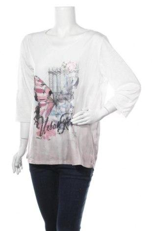 Γυναικεία μπλούζα Gina Laura, Μέγεθος XL, Χρώμα Λευκό, Πολυεστέρας, Τιμή 8,64€