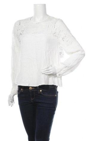 Дамска блуза H&M, Размер M, Цвят Бял, Вискоза, полиамид, памук, Цена 13,76лв.