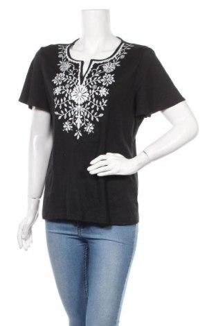 Дамска блуза Karen Scott, Размер L, Цвят Черен, 60% памук, 40% полиестер, Цена 18,95лв.