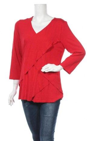 Γυναικεία μπλούζα Liz Jordan, Μέγεθος XL, Χρώμα Κόκκινο, 96% βισκόζη, 4% ελαστάνη, Τιμή 9,26€