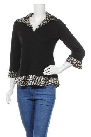 Дамска блуза Nadia Nardi, Размер L, Цвят Черен, Памук, полиестер, Цена 9,82лв.