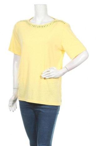 Γυναικεία μπλούζα Noni B, Μέγεθος XL, Χρώμα Κίτρινο, 65% πολυεστέρας, 35% βαμβάκι, Τιμή 8,28€