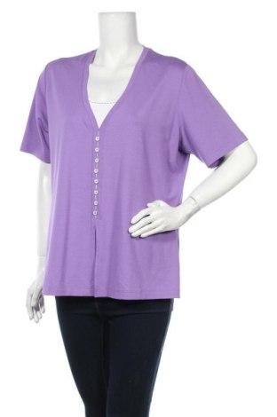 Дамска блуза Rabe, Размер XL, Цвят Лилав, 92% вискоза, 8% еластан, Цена 14,28лв.