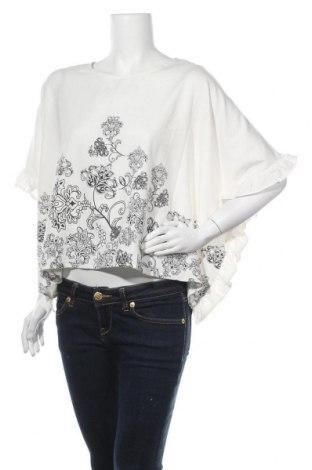 Дамска блуза SHEIN, Размер XL, Цвят Бял, 97% полиестер, 3% еластан, Цена 12,50лв.