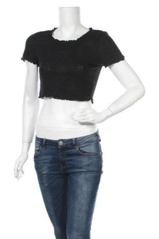 Дамска блуза SHEIN, Размер L, Цвят Черен, 95% полиестер, 5% еластан, Цена 5,35лв.