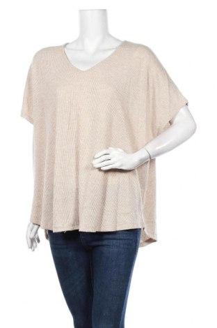 Γυναικεία μπλούζα Seed, Μέγεθος XL, Χρώμα  Μπέζ, 62% πολυεστέρας, 33% βισκόζη, 5% ελαστάνη, Τιμή 11,11€