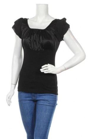 Дамска блуза St-Martins, Размер S, Цвят Черен, 96% вискоза, 4% еластан, Цена 13,39лв.