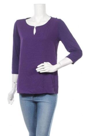 Γυναικεία μπλούζα Tom Tailor, Μέγεθος M, Χρώμα Βιολετί, 98% πολυεστέρας, 2% ελαστάνη, Τιμή 19,56€