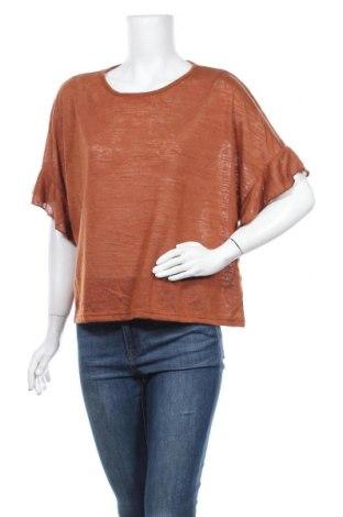 Дамска блуза Valley Girl, Размер XL, Цвят Кафяв, Полиестер, Цена 10,24лв.