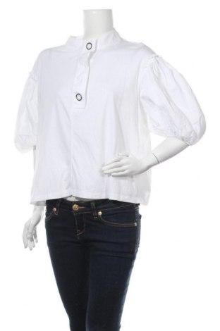 Дамска блуза Zara, Размер L, Цвят Бял, Цена 20,95лв.
