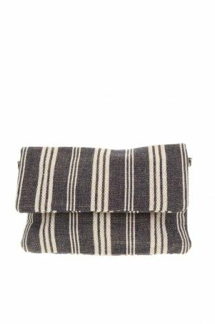 Дамска чанта, Цвят Син, Текстил, еко кожа, Цена 23,10лв.