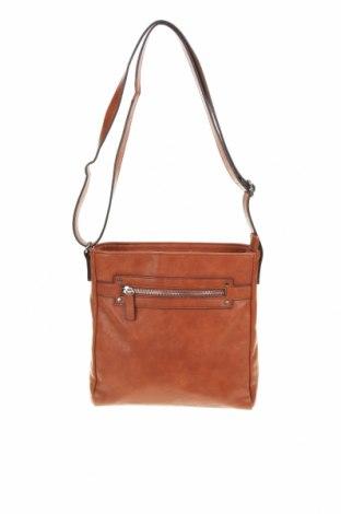 Дамска чанта, Цвят Кафяв, Еко кожа, Цена 27,30лв.