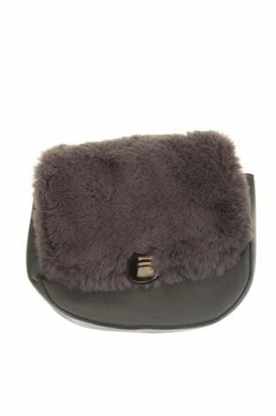 Дамска чанта, Цвят Сив, Еко кожа, текстил, Цена 23,56лв.
