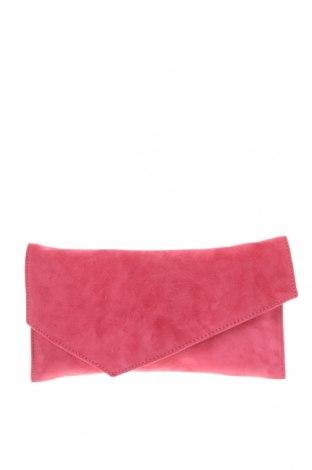 Дамска чанта Bagatt, Цвят Розов, Естествен велур, Цена 61,95лв.