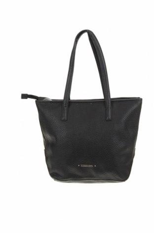 Дамска чанта Basque, Цвят Черен, Еко кожа, Цена 23,81лв.