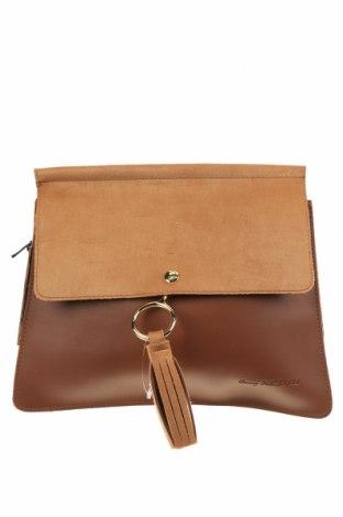 Γυναικεία τσάντα Beverly Hills Polo Club, Χρώμα Καφέ, Δερματίνη, Τιμή 22,40€