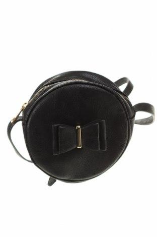 Дамска чанта Clockhouse, Цвят Черен, Еко кожа, Цена 13,28лв.