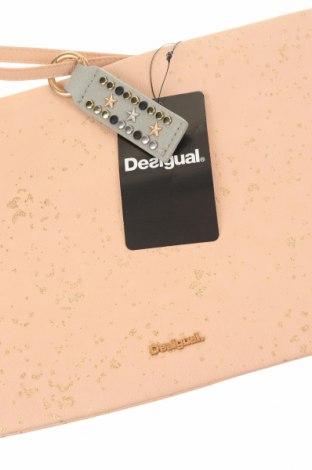 Дамска чанта Desigual, Цвят Розов, Еко кожа, Цена 46,87лв.