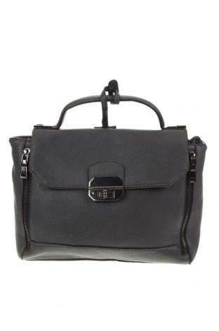 Дамска чанта Hallhuber, Цвят Сив, Естествена кожа, Цена 77,49лв.