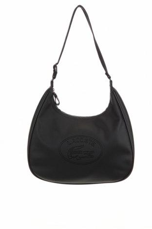 Дамска чанта Lacoste, Цвят Черен, Полиуретан, Цена 58,50лв.