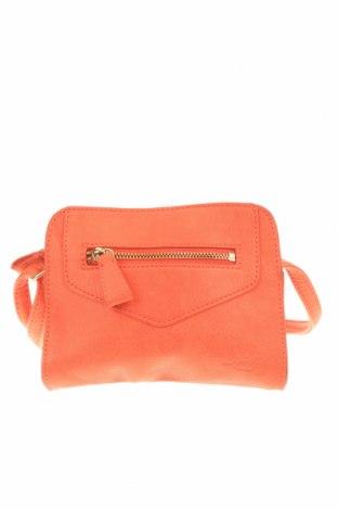 Дамска чанта Levi's, Цвят Оранжев, Еко кожа, Цена 35,28лв.