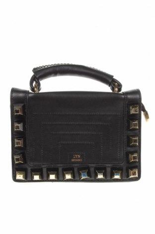 Дамска чанта Lyn, Цвят Черен, Еко кожа, Цена 17,67лв.