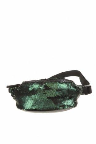Дамска чанта Vera Mont, Цвят Зелен, Текстил, еко кожа, Цена 46,31лв.