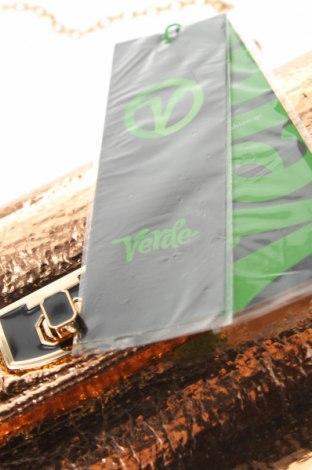 Дамска чанта Verde, Цвят Златист, Еко кожа, Цена 22,42лв.