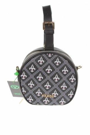 Γυναικεία τσάντα Verde, Χρώμα Μαύρο, Δερματίνη, Τιμή 13,44€