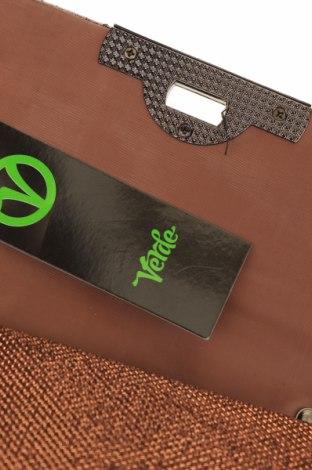 Дамска чанта Verde, Цвят Кафяв, Текстил, Цена 9,44лв.