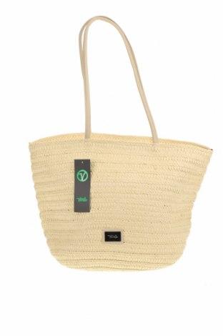 Чанта Verde, Цвят Екрю, Други тъкани, еко кожа, Цена 24,15лв.