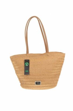 Чанта Verde, Цвят Кафяв, Други тъкани, еко кожа, Цена 31,05лв.