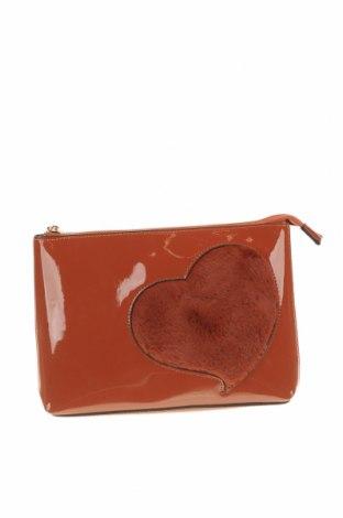 Дамска чанта Verde, Цвят Кафяв, Еко кожа, текстил, Цена 8,85лв.