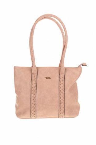Γυναικεία τσάντα Verde, Χρώμα Ρόζ , Δερματίνη, Τιμή 16,50€